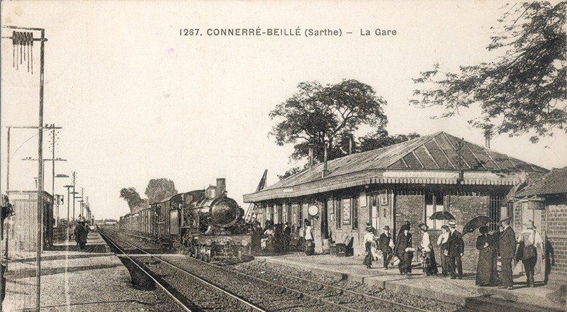 La gare de Connerré-Beillé en 1854