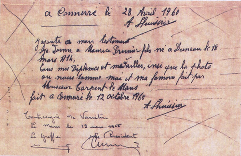Le testament d'Albert Lhuissier